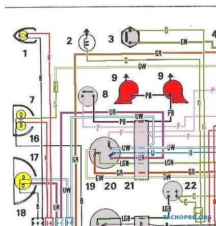 электрическая схема рено